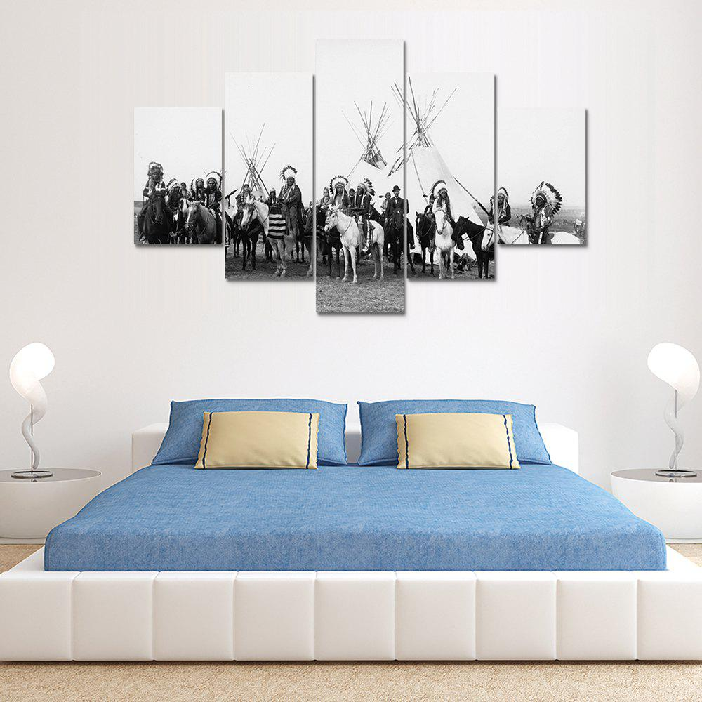 Fashion Riding People Canvas Print Painting Home Decor Wall Rrt Picture 5pcs