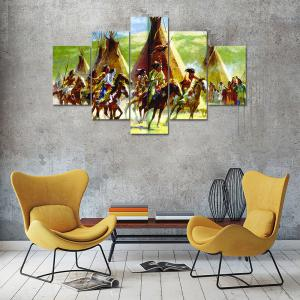 Riding People Canvas Print Wall Rrt Painting for Home Decor 5pcs -