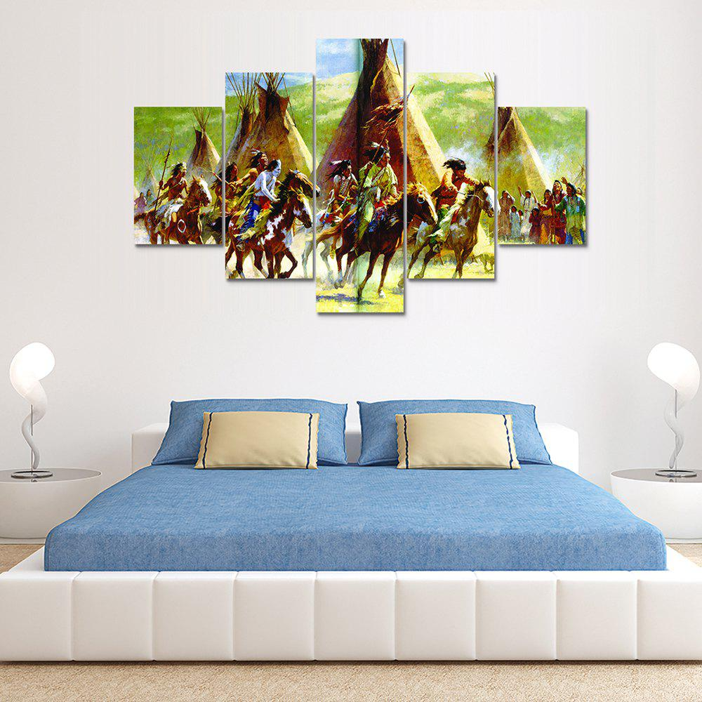 Trendy Riding People Canvas Print Wall Rrt Painting for Home Decor 5pcs