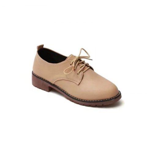 Unique YQ-WA85 Round All-Match Tie with Coarse Small Leather Shoes Casual Shoes