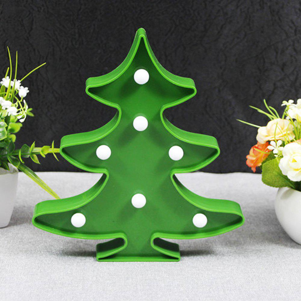 BRELONG 3D Warm White Decoration Night Light for Kids Room Christmas Wedding Christmas Tree 3VHOME<br><br>Color: GREEN; Brand: BRELONG; Wattage: 0.5W; Light Source Color: Warm White; Light Type: Christmas Light,Decoration Light,LED,LED Night Light; Power Source: Battery; Connector Type: Battery; Features: Decorative; Color Temperature or Wavelength: 3000 - 3500; Battery Quantity: 2 x AA; Quantity: 1; Style: Cartoon;