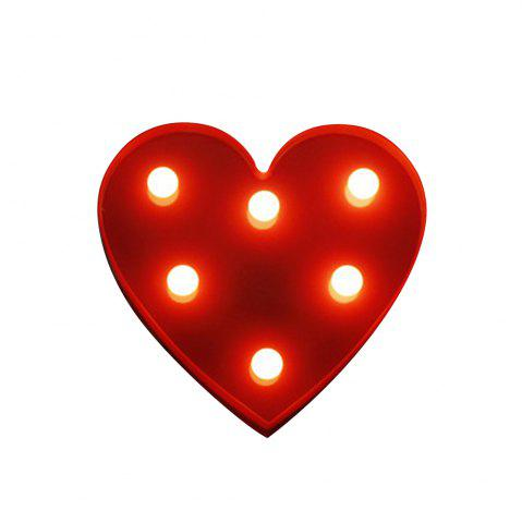 BRELONG 3D Warm White Kids Room  Night Light Christmas   Wedding Decorative 4.5V - Heart ( No Battery )