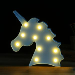 BRELONG 3V 10LEDs Warm White Beast Head Night Light for Kids Room Christmas Wedding Decoration -
