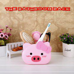 Bathroom Rack Suction Cup Storage Rack Wall Hanging Bathroom Storage Rack - Pig -