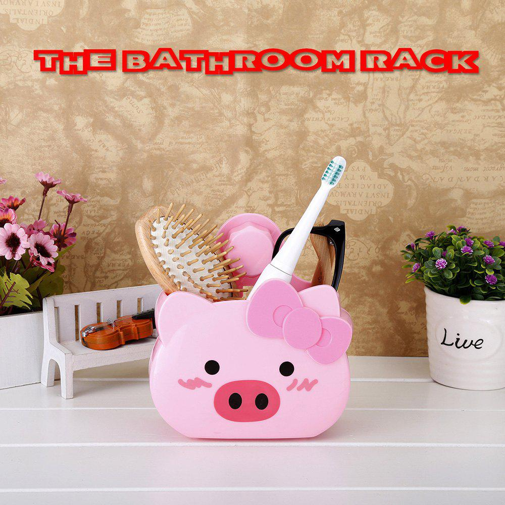 Outfits Bathroom Rack Suction Cup Storage Rack Wall Hanging Bathroom Storage Rack - Pig