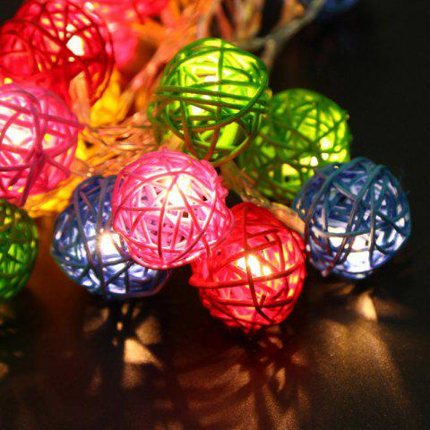 Trendy JIAWEN LED String Light 4m 20 LEDs Fairy Rattan Balls for Holiday Christmas Wedding Decoration Party