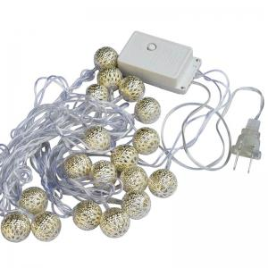JIAWEN 4 m 20LEDs Iron Ball LED Cordes Lumières Luminaria Or SilverBall Clignotants AC 110-220 V -