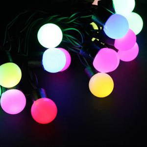 Jiawen Christmas Lights String 5m 50 LEDs RGB Holiday Ball  Light  AC 220V -
