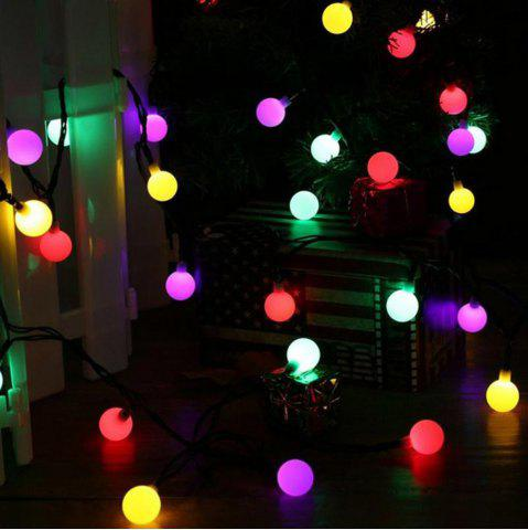 Fashion Jiawen Christmas Lights String 5m 50 LEDs RGB Holiday Ball  Light  AC 220V