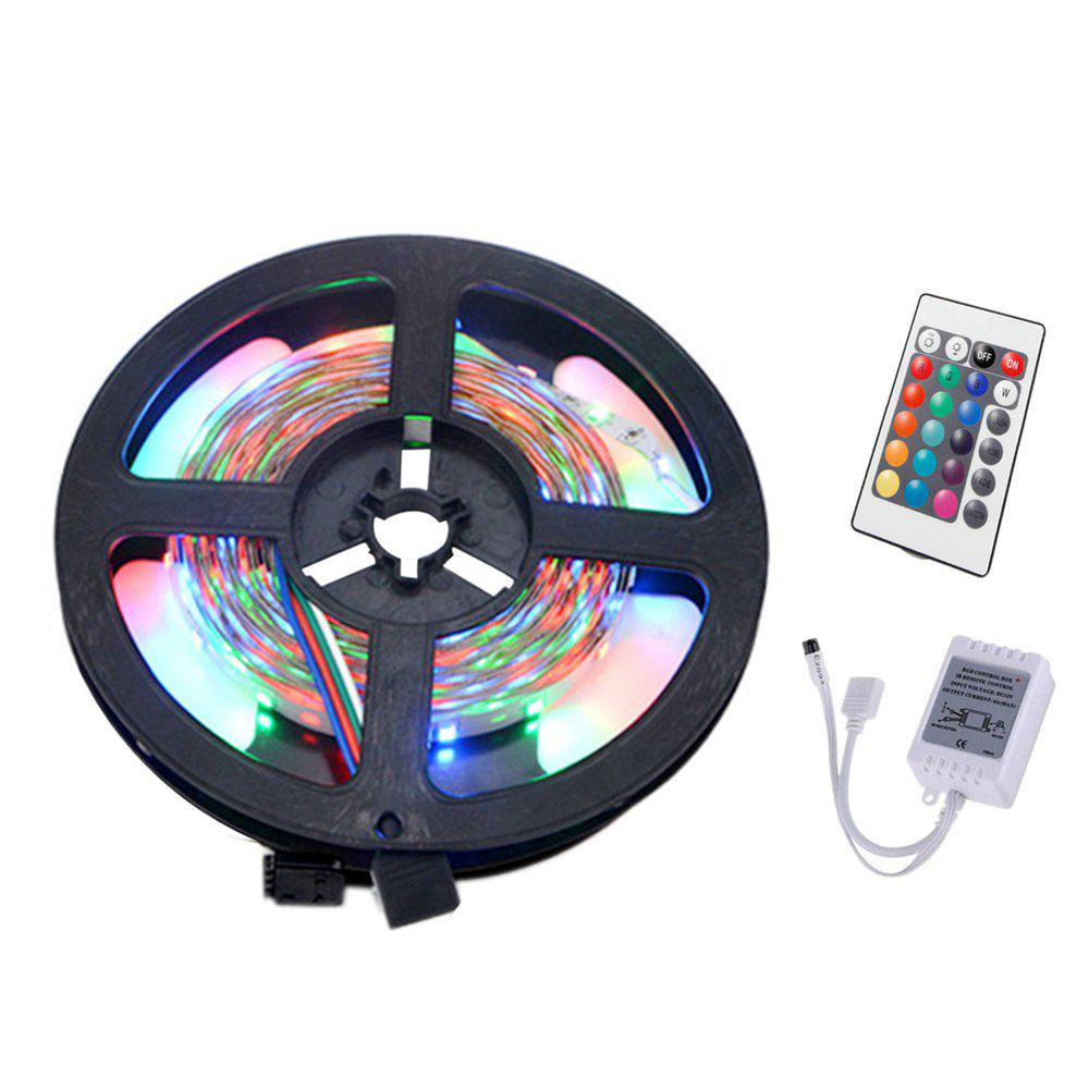 YWXLight 5M 3528SMD NO-Waterproof 24Key Remote Control Flexible LED Light StripsHOME<br><br>Color: RGB;