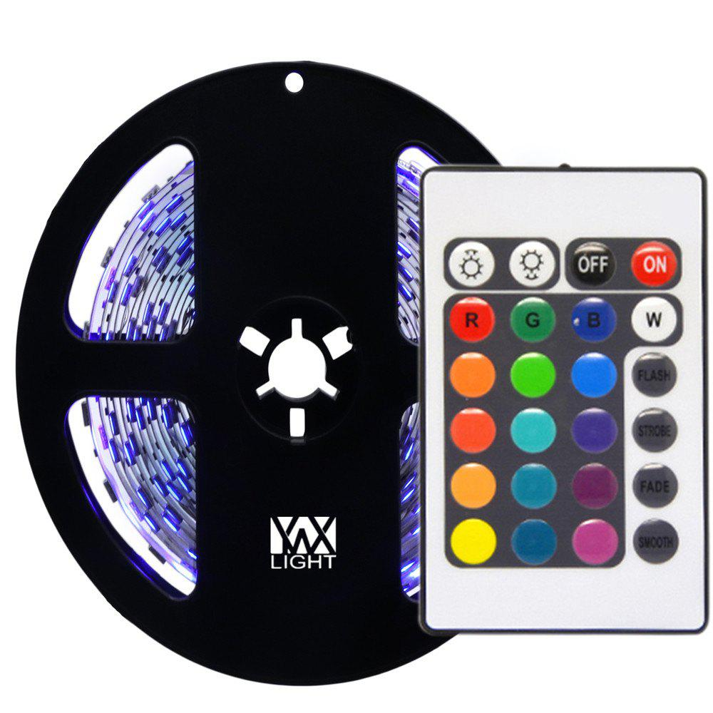 YWXLight 5M NO-Waterproof 24Key Remote Control Flexible LED Light StripsHOME<br><br>Color: RGB COLOR;
