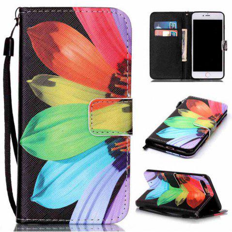 Online Sunflower Painted PU Phone Case for iPhone 7 Plus / 8 Plus