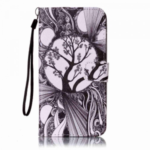 Black and White Trees Painted PU Phone Case for Iphone 7 Plus / 8 Plus -