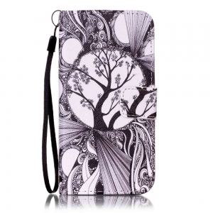 Black and White Trees Painted PU Phone Case for Iphone 7 / 8 -