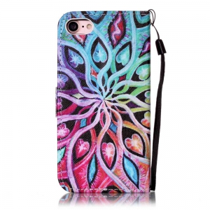 Spread Flowers Painted PU Phone Case for Iphone 7 / 8 -