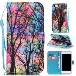 Colored Tree Painted PU Phone Case for Iphone 7 / 8 -