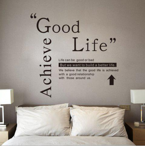 2018 Dsu Good Life Wall Sticker Quotes English Motto Bedroom Living Room  Home Decal In Black | Rosegal.com
