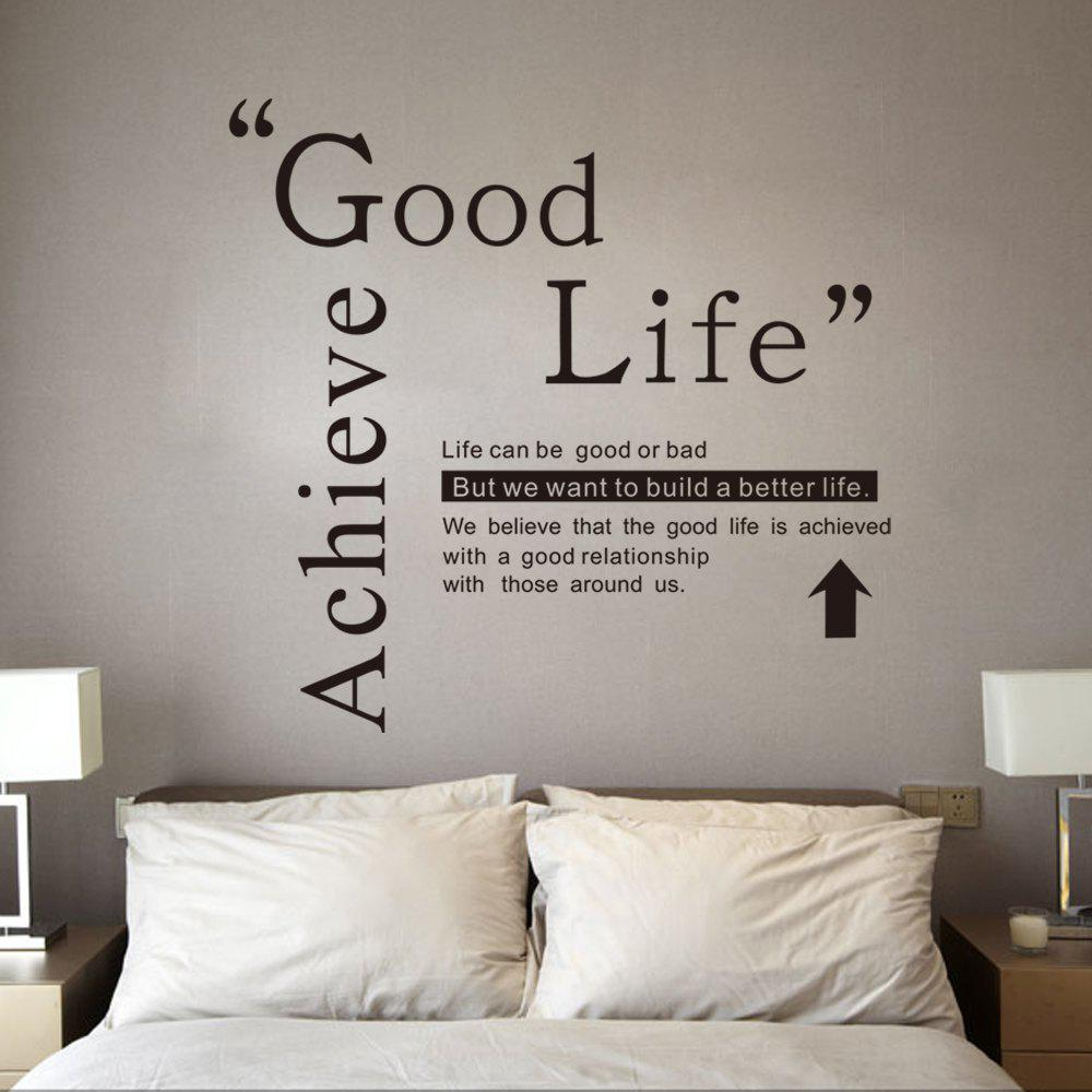 2019 Dsu Good Life Wall Sticker Quotes English Motto Bedroom Living Room Home Decal