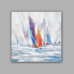 HAPPY Art Handed Top Grade Canvas Coast Oil Painting Wall -