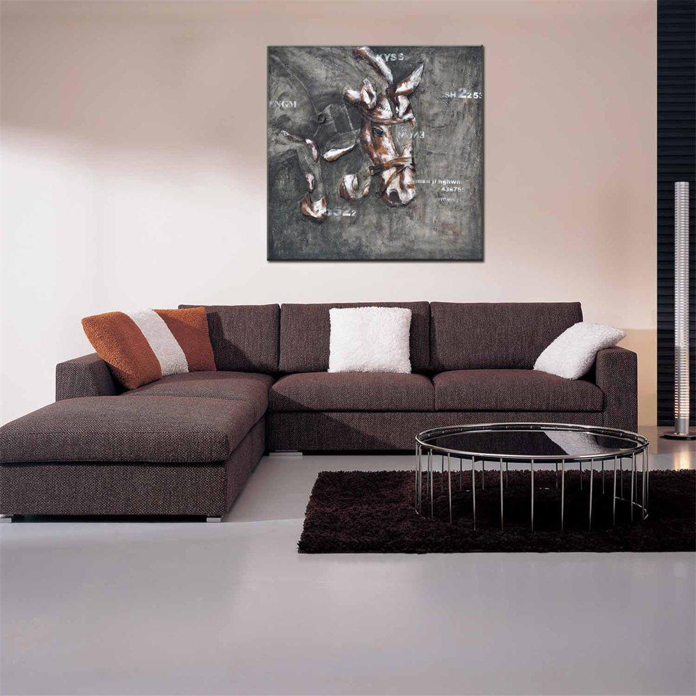 Best Hua Tuo Abstract Horse Print Oil Painting