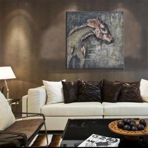 Hua Tuo Animal Print Wall Oil Painting for Home Decor -