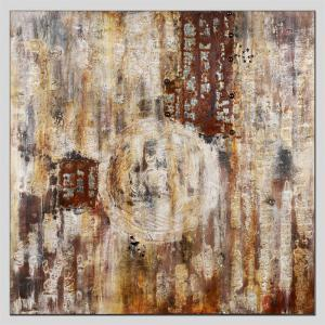Hua Tuo Abstract Oil Painting Size 70 x 70cm HT - 5362 -