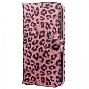 Leopard Print Card Lanyard Pu Leather для Samsung Note 8 -