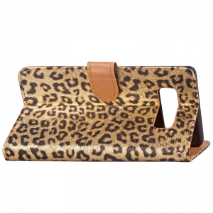 Leopard Print Card Lanyard Pu Leather for Samsung Note 8 -