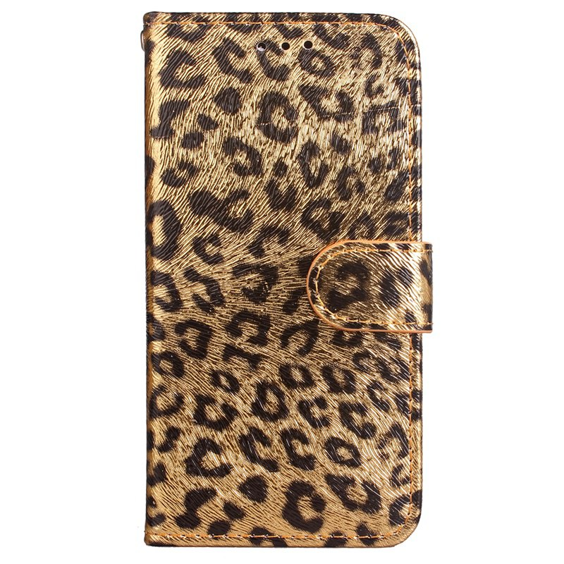 Outfits Leopard Print Card Lanyard Pu Leather for Samsung Note 8