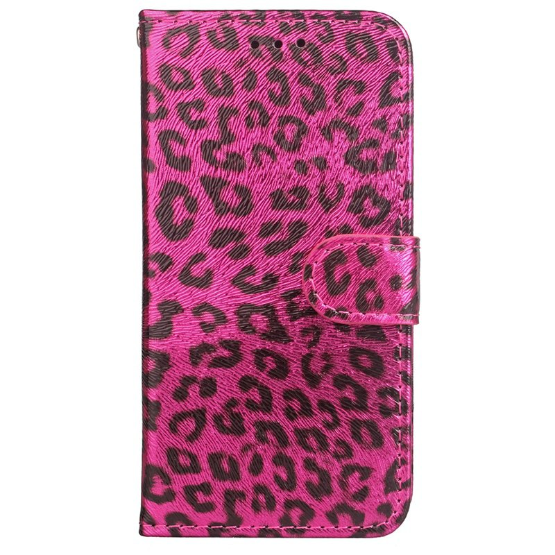 Sale Leopard Print Card Lanyard Pu Leather for Samsung Note 8