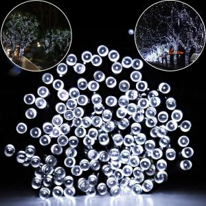 SUPli Solar Battery Powered Christmas String Lights 10M 100 LED Dual Power Decorative Fairy String Lights -