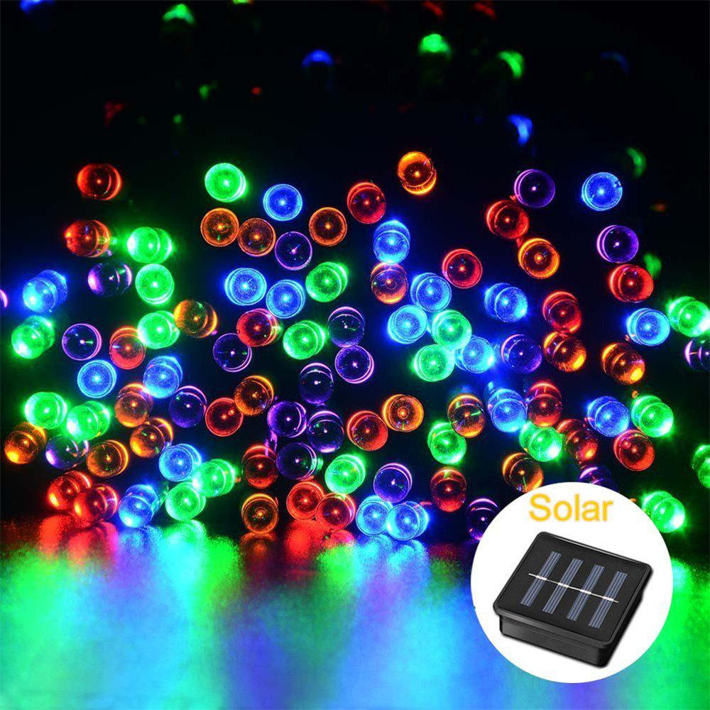 SUPli Solar Battery Powered Christmas String Lights 10M 100 LED Dual Power Decorative Fairy String LightsHOME<br><br>Color: COLORFUL;