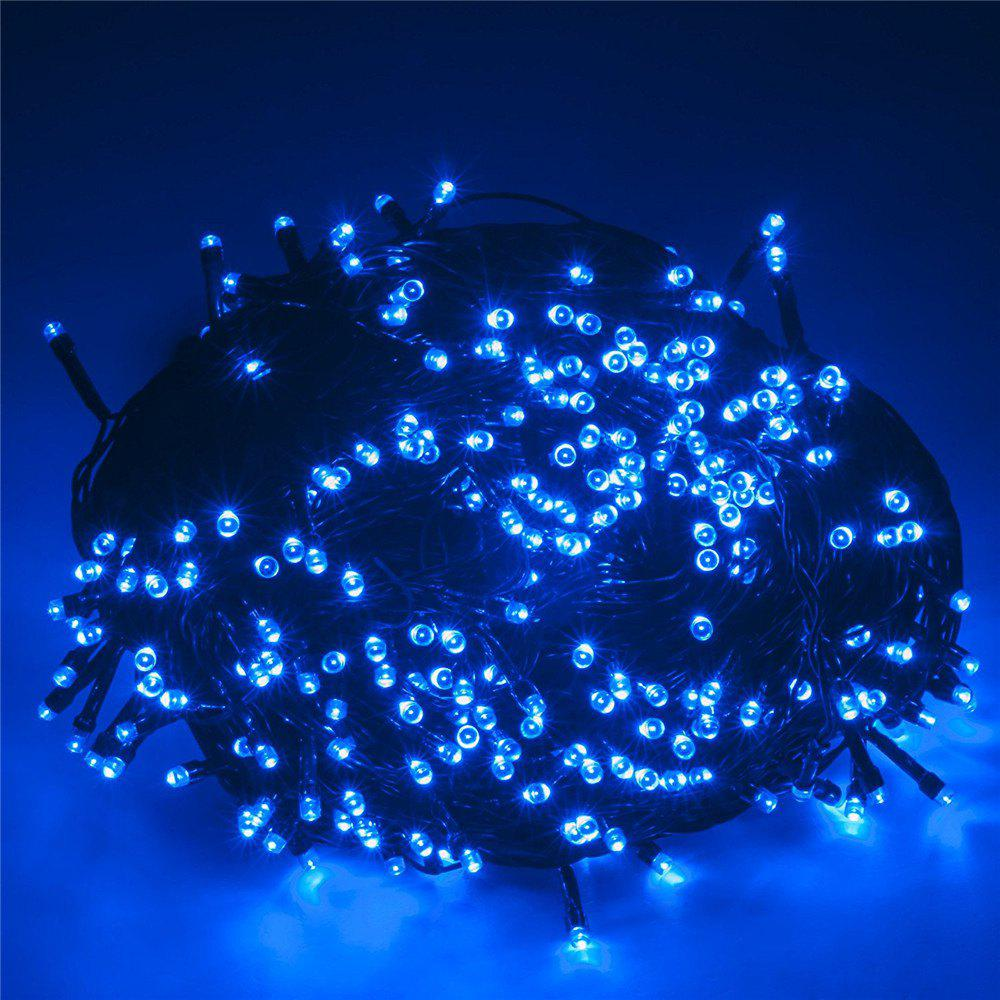 SUPli Solar Battery Powered Christmas String Lights 10M 100 LED Dual Power Decorative Fairy String LightsHOME<br><br>Color: BLUEBELL;