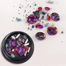1 Box Decorative Multicolor Red Big Jewel Pearl Accessories Mixed Style  Nail Art Decoration 80PCS -