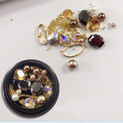 1 Box Decorative Big Jewel Pearl Accessories Mixed Style Nail Art Decoration 80PCS -