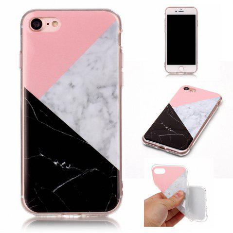 Fashion Wkae TPU Material Color Marble Pattern Protection Shell for iPhone 7 / 8