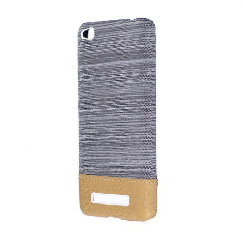 Outfit Wkae Jeans Canvas Leather Back Case Cover for Xiaomi Redmi 4A