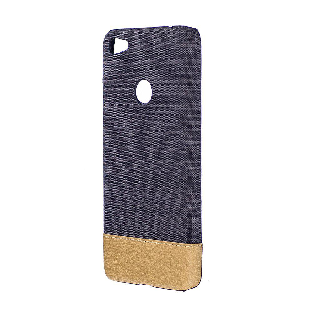 Wkae Jeans Canvas Leather Back Case Cover for Xiaomi Redmi 4XHOME<br><br>Color: BLACK;