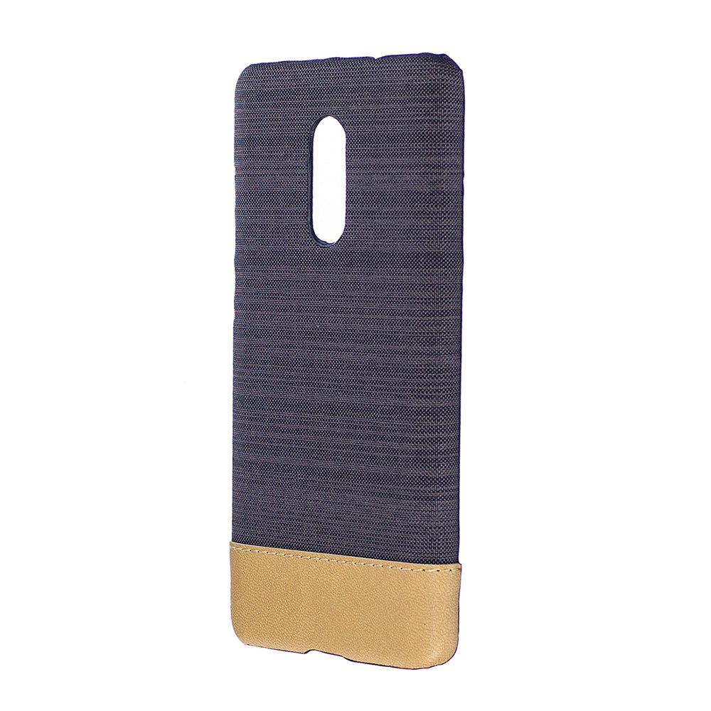 Wkae Jeans Canvas Leather Back Case Cover for Xiaomi Redmi Note 4X / Note 4HOME<br><br>Color: BLACK;