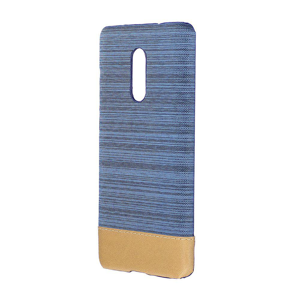 Wkae Jeans Canvas Leather Back Case Cover for Xiaomi Redmi Note 4X / Note 4HOME<br><br>Color: BLUE;