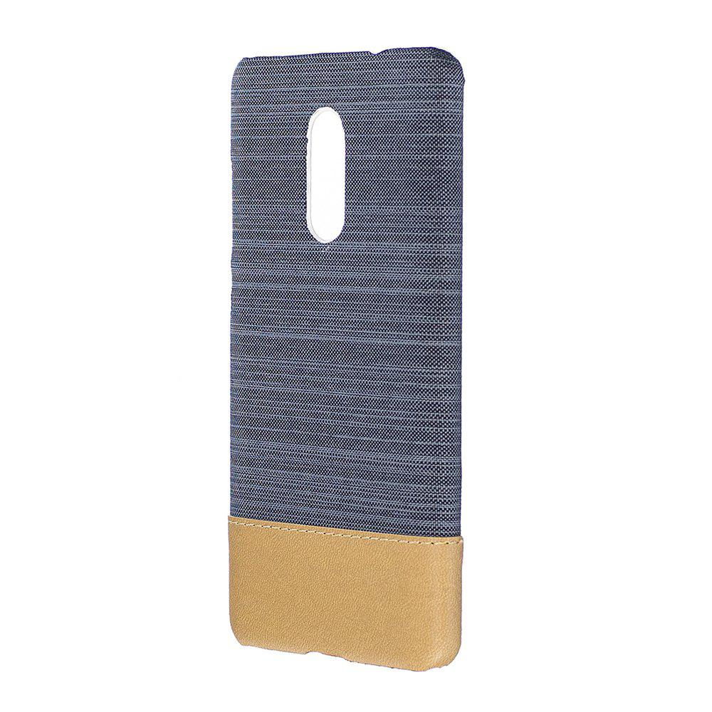 Wkae Jeans Canvas Leather Back Case Cover for Xiaomi Redmi Note 4X / Note 4HOME<br><br>Color: GRAY;