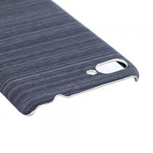 Wkae Jeans Canvas Leather Back Case Cover for Asus ZenFone 4 Max ZC554KL -