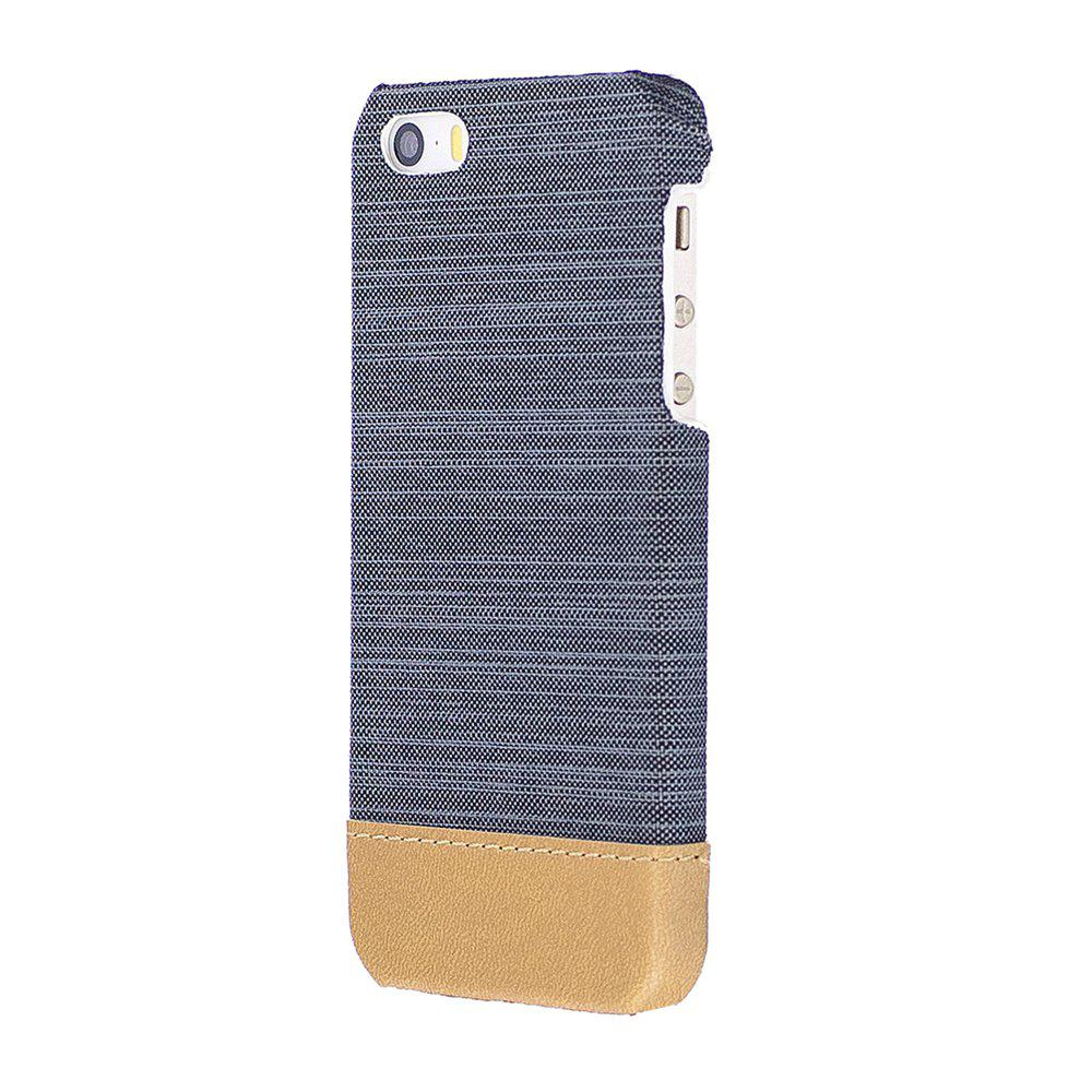 Wkae Jeans Canvas Leather Back Case Cover For Iphone 5 5s Se 5se Kickstand Series Blackblack Best