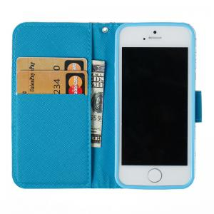 Wkae 3D Stereo Painted Leather Case Cover for IPhone SE -