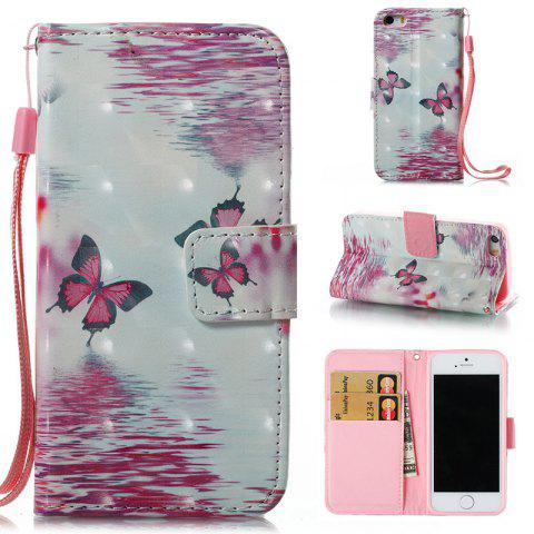 Outfit Wkae 3D Stereo Painted Leather Case Cover for IPhone SE