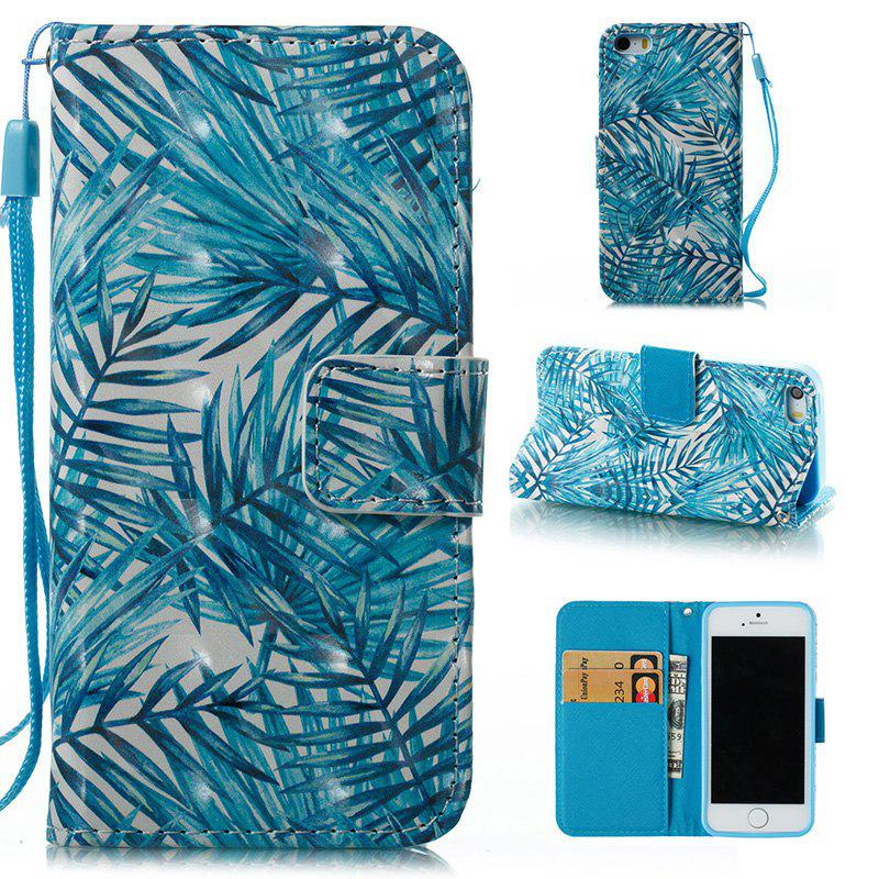 Fashion Wkae 3D Stereo Painted Leather Case Cover for IPhone SE
