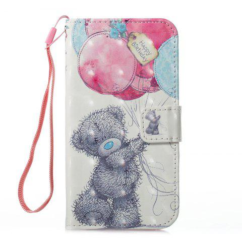 Fashion Wkae 3D Effect Painted Leather Case Cover for Samsung Galaxy J310