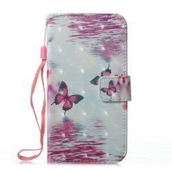 Wkae 3D Effect Painted Leather Case Cover for Samsung Galaxy J310 -