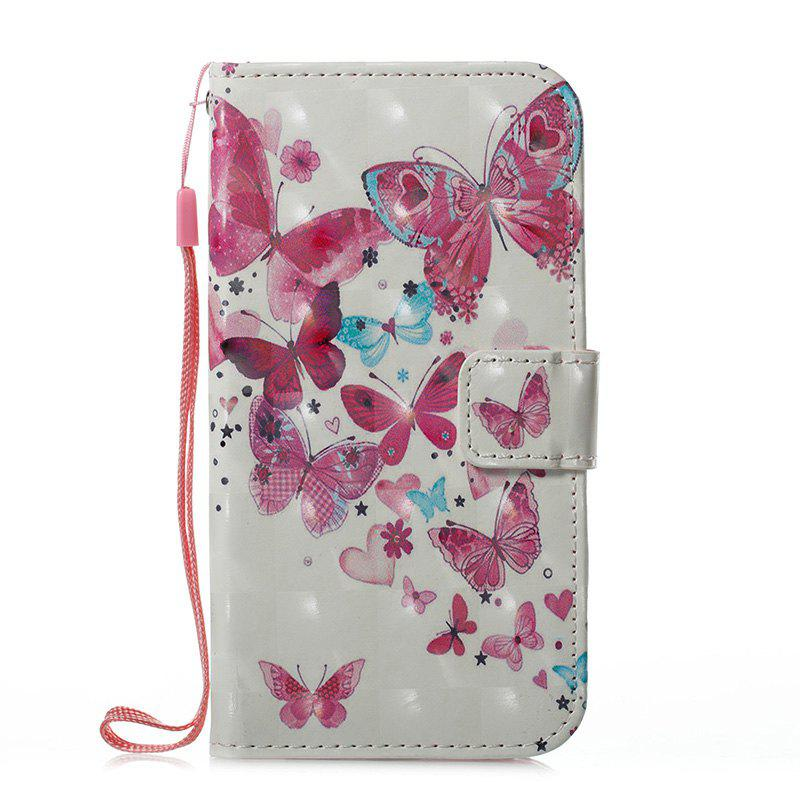 Best Wkae 3D Effect Painted Leather Case Cover for Samsung Galaxy J310