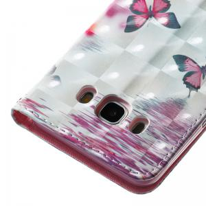 Wkae 3D Stereo Painted Leather Case Cover for Samsung Galaxy J510 -